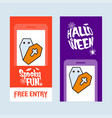 happy halloween invitation design with coffin vector image