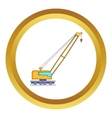 High crane icon vector image