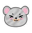isolated cute mouse face vector image