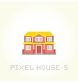 Isolated house in pixel art style 5 vector image vector image