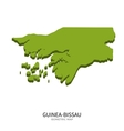 Isometric map of Guinea-Bissau detailed vector image vector image