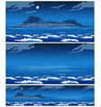 landscape open sea with island at night vector image