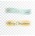 Merry Christmas ribbon vector image