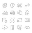 modern thin line icons set digital technology vector image