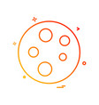 molecule icon design vector image