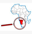 namibia under a magnifying glass vector image vector image