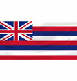 national flag hawaiian islans symbol vector image vector image