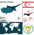 Northern Cyprus map vector image