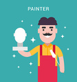 Painter Concept Male Cartoon Character Flat Style vector image