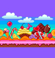 pixel art sweets seamless background detailed vector image