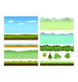 platformer game assets vector image vector image
