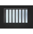 prison window vector image vector image
