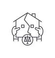 real estate law line icon concept real estate law vector image