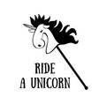 Ride a Unicorn vector image