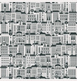 seamless background with a lot old buildings vector image vector image