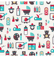 Seamless pattern with nursery equipment vector image