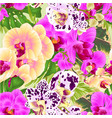 seamless texture stem orchids yellow lila spotted vector image vector image