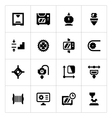 Set icons of 3D printing vector image vector image