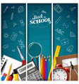 set of three back to school background vector image