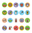 SPA Colored Icons 4 vector image