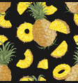 summer seamless pattern with sweet pineapples vector image vector image