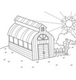 the location of agriculture hangar for food for vector image vector image