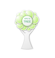 the tree of circles vector image
