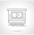 video ads for promotion flat line icon vector image vector image