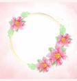 watercolor poinsettia christmas flower wreath vector image