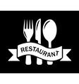 art style restaurant symbol vector image