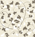 Seamless retro ginkgo background vector image