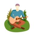 Guitar song vector image