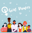 a diverse group of women feminine vector image vector image