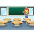 A teacher in the classroom vector image vector image