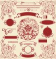 antique design elements vector image vector image