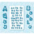 aqua bubble letters vector image