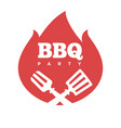 barbecue or grill party icon of bbq for vector image vector image
