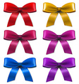 Big Set Bow vector image vector image
