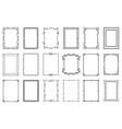 big set decorative frames vector image