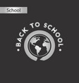 black and white style icon back to school globe vector image vector image