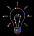 Bright mesh network invent bulb with flare spots