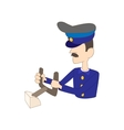 Captain of the aircraft icon cartoon style vector image vector image