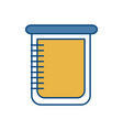 chemical beaker icon vector image vector image