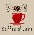 coffee of love vector image vector image
