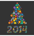 color flat confetti christmas tree vector image vector image