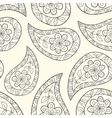 Contour paisley seamless pattern vector image vector image