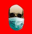 coronavirus skull mask vector image
