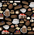cup chocolate milkshake and coffee or cacao vector image