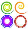 curly spiral shapes colorful design elements vector image
