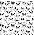 cute panda bear seamless pattern cute animals vector image vector image